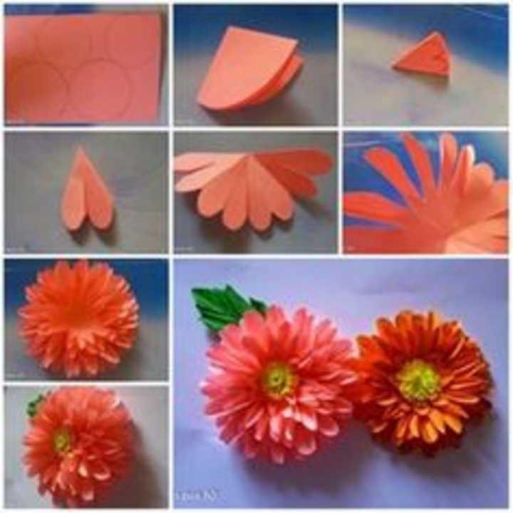 Origami Gerbera Tutorial - How to make Paper Gerbera flower ... | 720x720