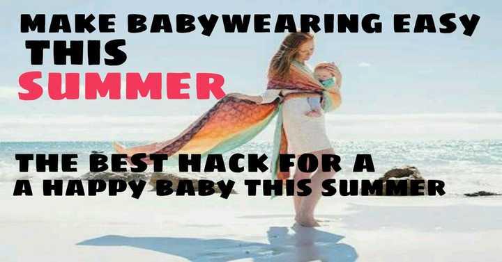 baby wearing in summer
