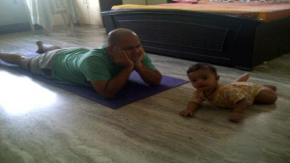 Breathe In, Breathe Out with your baby on International Day of Yoga