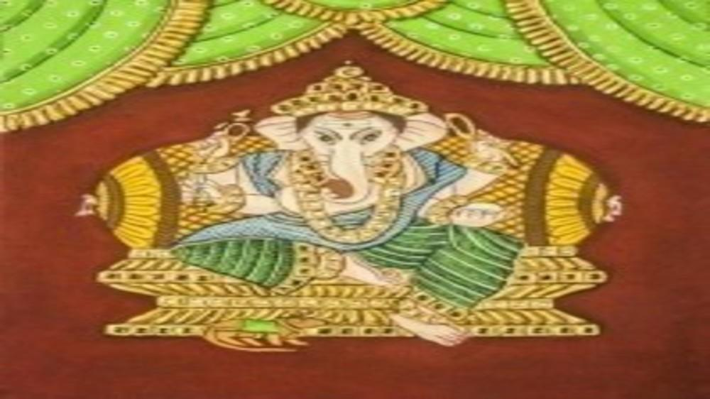 Tanjore Painting - A step by step  DIY Tutorial.