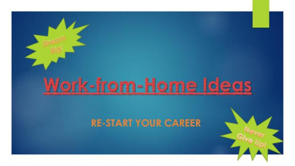 5 Work-From-Home ideas for SAHM's