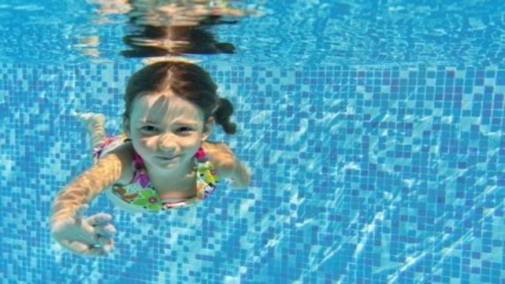 Swimming and getting comfortable in water