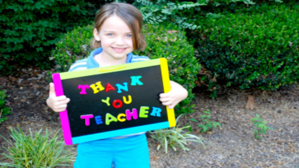 A Thank You Note To My Children's Teacher!