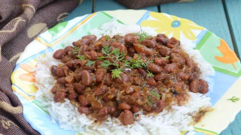 A plate of Rajmah Chawal