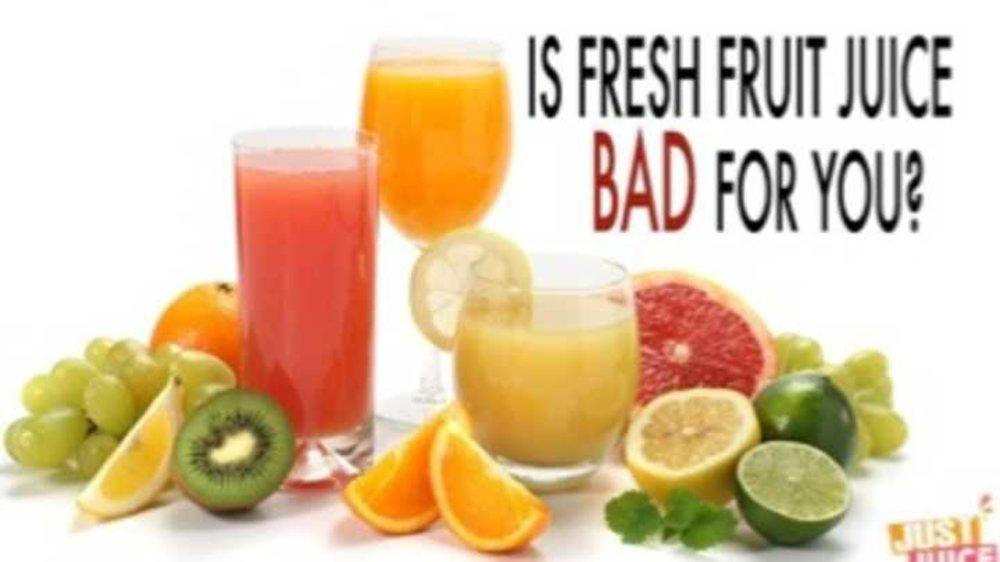 Do you know why you should not drink a glass of juice ?????