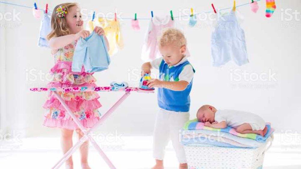 Wash. Dry. Iron. Fold. Repeat. Coming Clean on Baby Laundry.