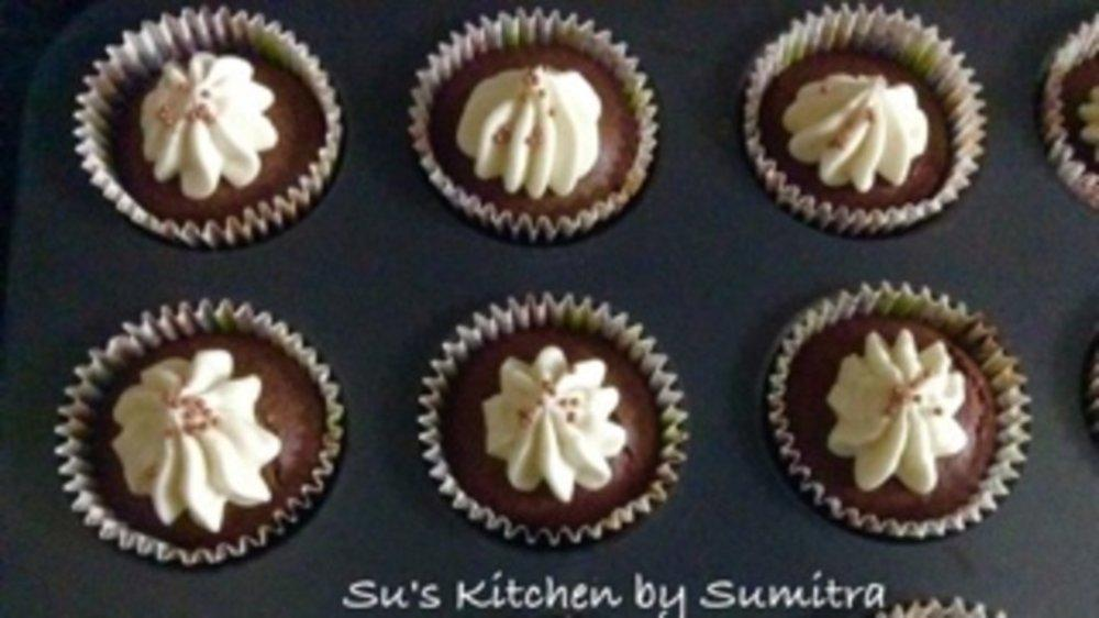 Vegan Beetroot Whole Wheat cupcakes...
