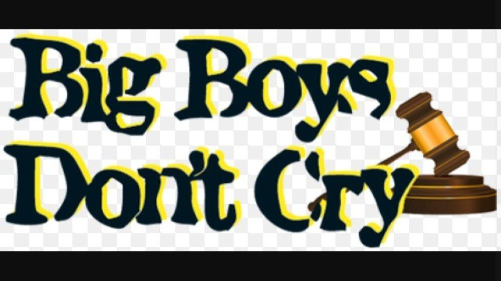 Boys don't cry, they weep, but only silently !