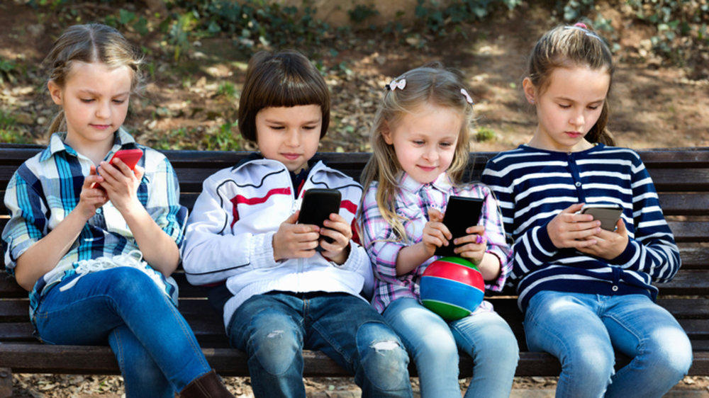 Image result for Children addicted towards gadgets images
