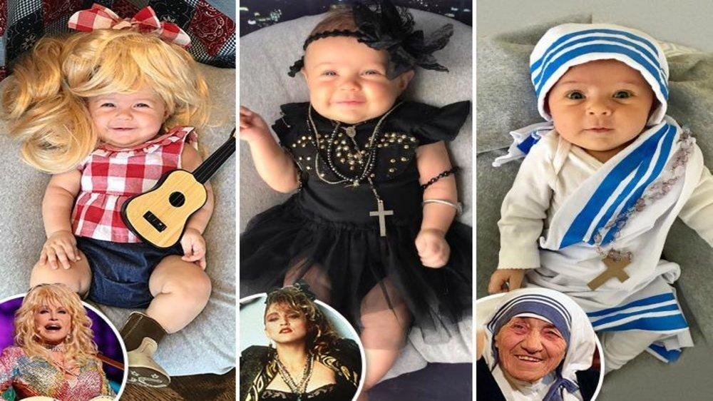 Creative Mom Dresses Adorable 3-month-old Daughter as Iconic Women for Fun  Photoshoot 7fee5c8774