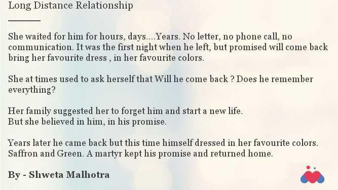 Long Distance Relationship | Short story by Shweta Malhotra | Momspresso